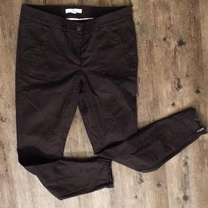 LOFT skinny black pants w zipper at ankle